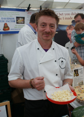 Sean Wilson with Trophy for Best Cheese Bakewell Show 2009