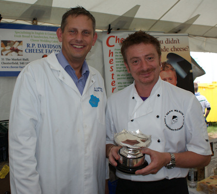 Bakewell Show 2009 Sean Wilson Saddleworth Cheese Company with Simon Davidson