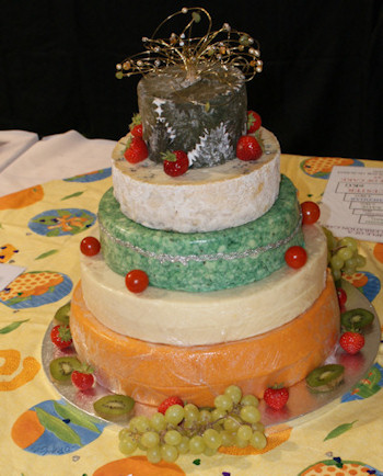 Simon Davidson's Demonstration Cheese Wedding Cake at Bakewell Show 2009