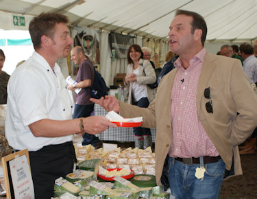 Sean Wilson talking to BBC East Midlands Today at Bakewell Show 2009
