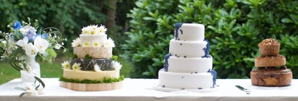 Cheese Wedding Cake and Pork Pie Cake from R P Davidson, The Cheese Factor