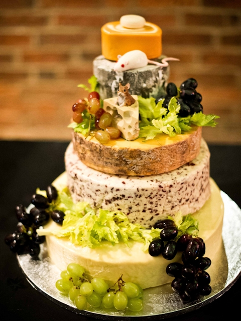 Cheese Wedding Cake Examples 2