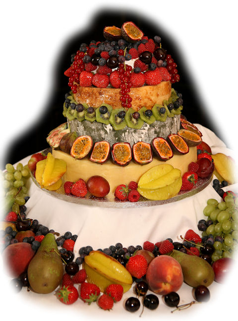 Cheese Wedding Cake Examples 1