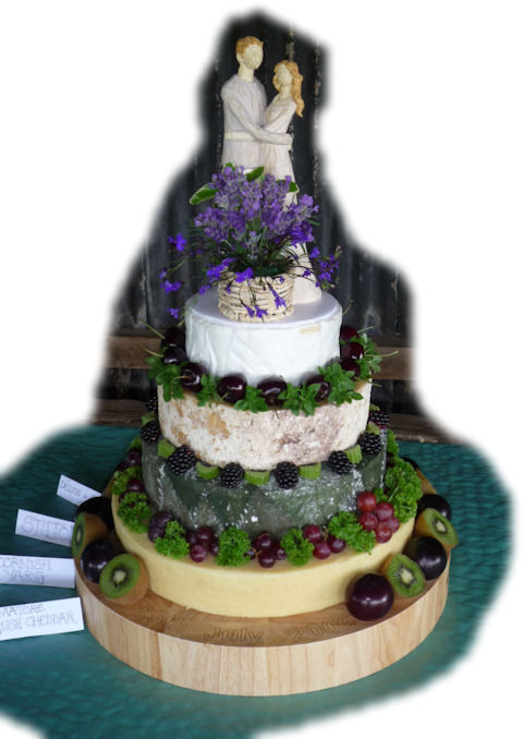 Cheese Wedding Cake Examples 6