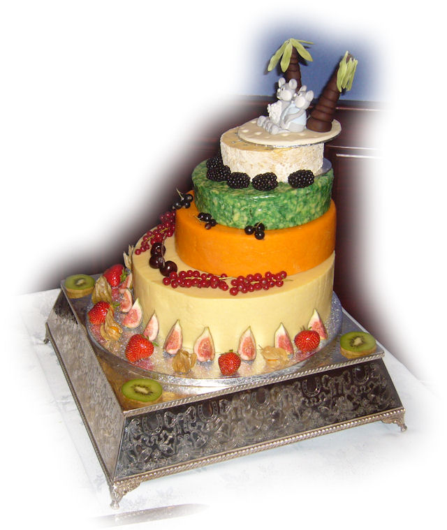 Cheese Wedding Cake Examples 8