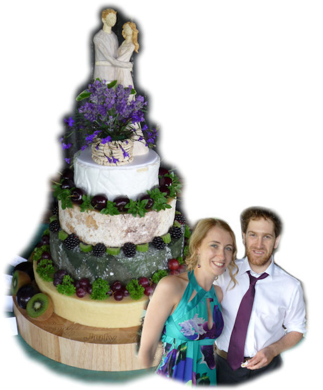 Cheese Wedding Cake Featured-Couples 2