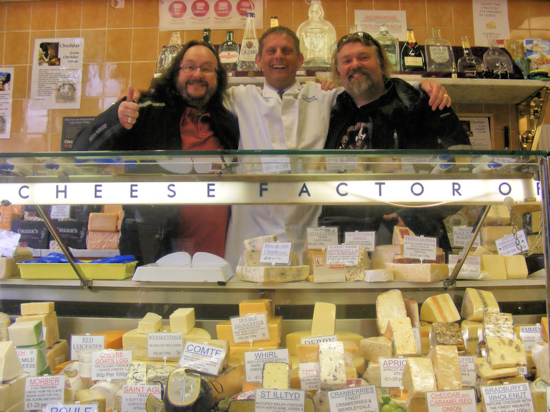 ...and again inside the shop ....Hairy Bikers with Simon Davidson, Cheese Factor, Chesterfield
