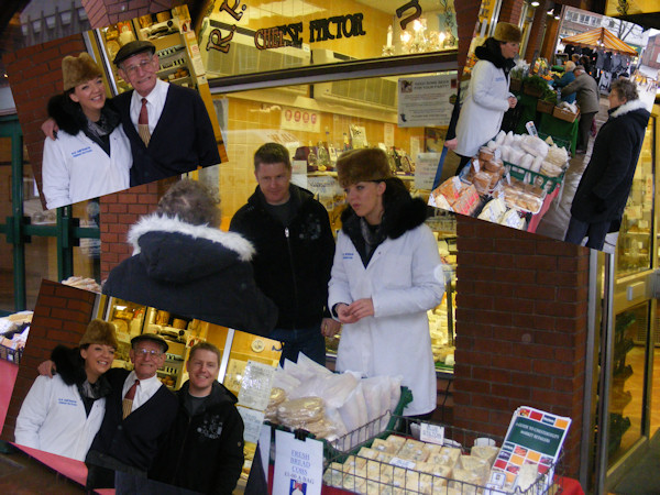 Becky Measures PeakFM Pound a Bag Challenge at R P Davidson CHeese Factor Chesterfield